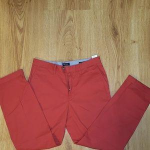 Nautica mens red pants